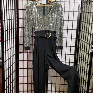 MENU Vintage Jumpsuit Size 14 Sequin Accents